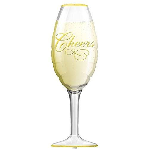 "Champagne Glass 38"" Foil Balloon"