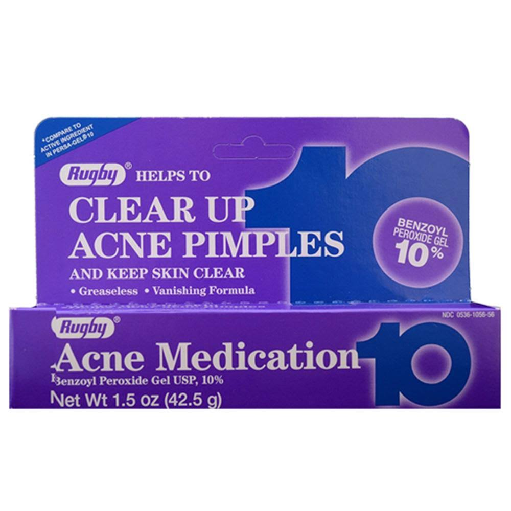 Rugby Benzoyl Peroxide Acne Pimples Gel - 42.5g