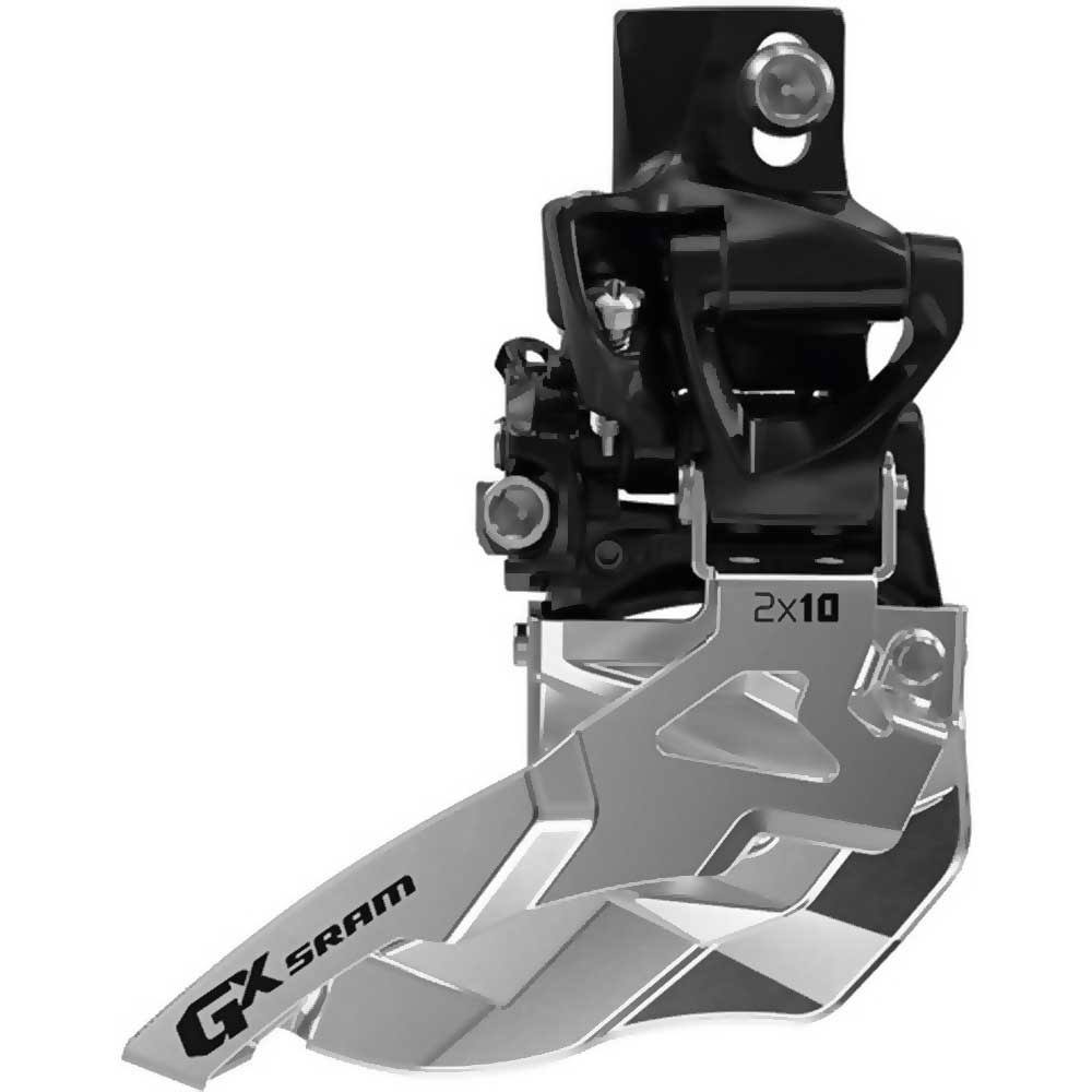 Sram GX 2X10 High Direct Mount Front Derailleur - 38/36T, Max Top Pull