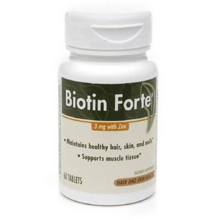 Enzymatic Therapy Biotin Forte with Zinc Supplement - 60 Tablets