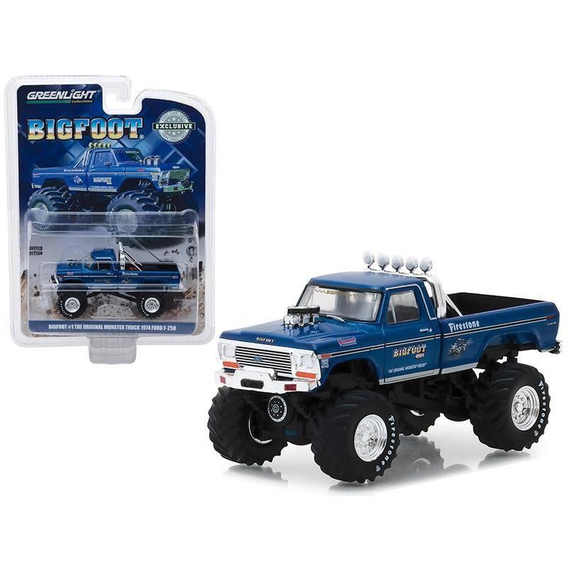 Greenlight 1974 Ford F-250 Monster Truck Bigfoot #1 Blue The Original Monster Truck (1979)