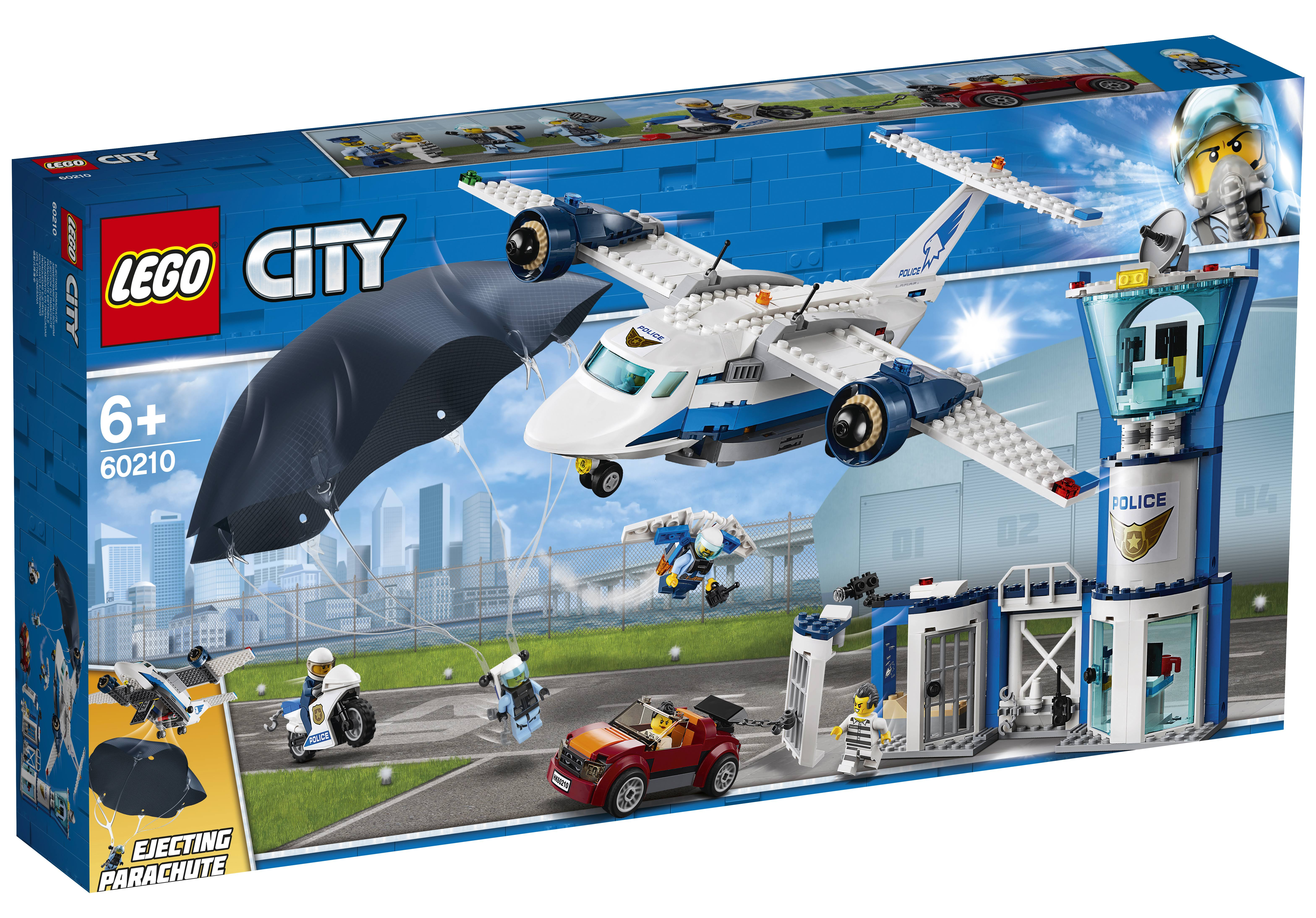Lego City Sky Police Air Force Base Building Kit - 529pcs