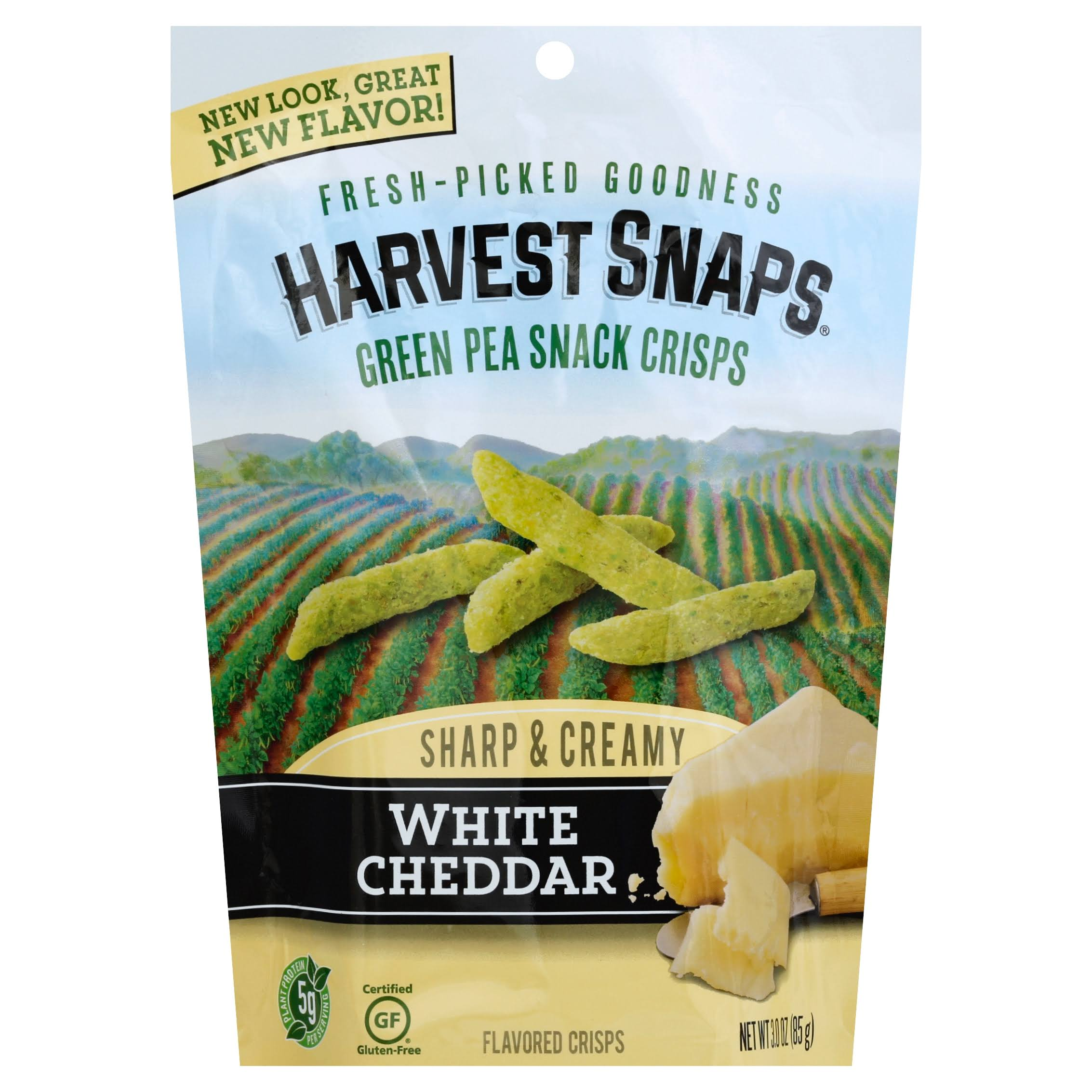 Green Pea Snack Crisps - White Cheddar, 3 OZ