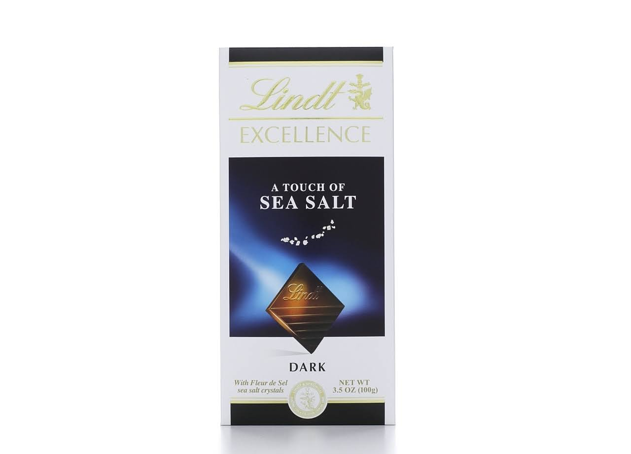 Lindt Excellence A Touch of Sea Salt Dark Chocolate Bar