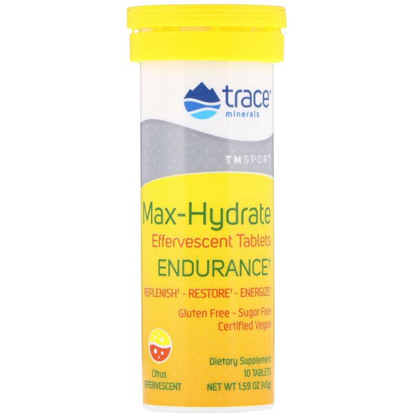 Trace Minerals Max-Hydrate Endurance - 10 Tablets