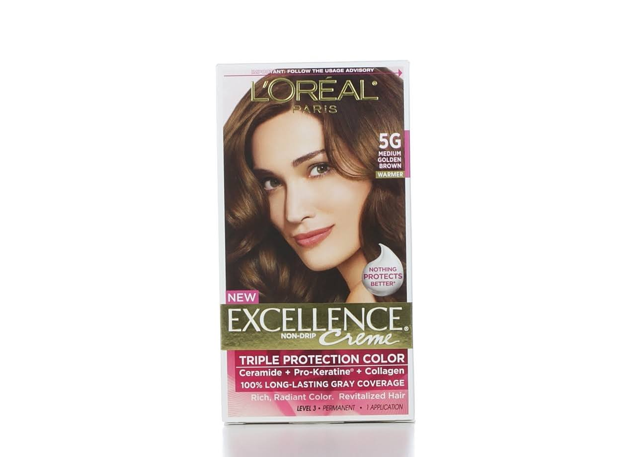 L'Oréal Paris Excellence Creme Permanent Hair Color - Medium Golden Brown, 5g