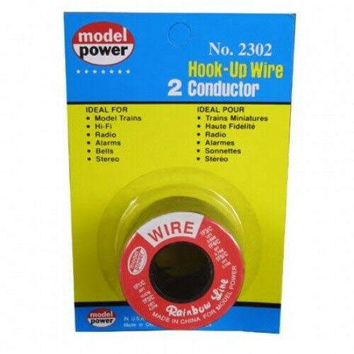 Model Power 2302 2 Conductor Wire - Red and Black