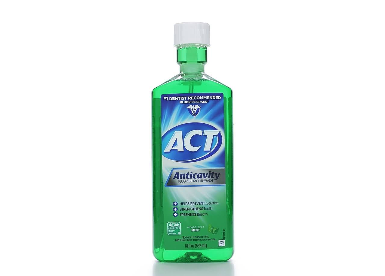 Act Anticavity Fluoride Mouthwash - 532ml, Mint