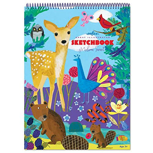 eeBoo Sketch Book Drawing Pad - Life on Earth