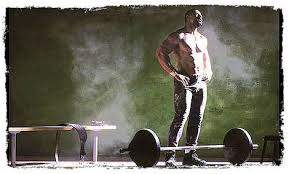 barbell power clean and press