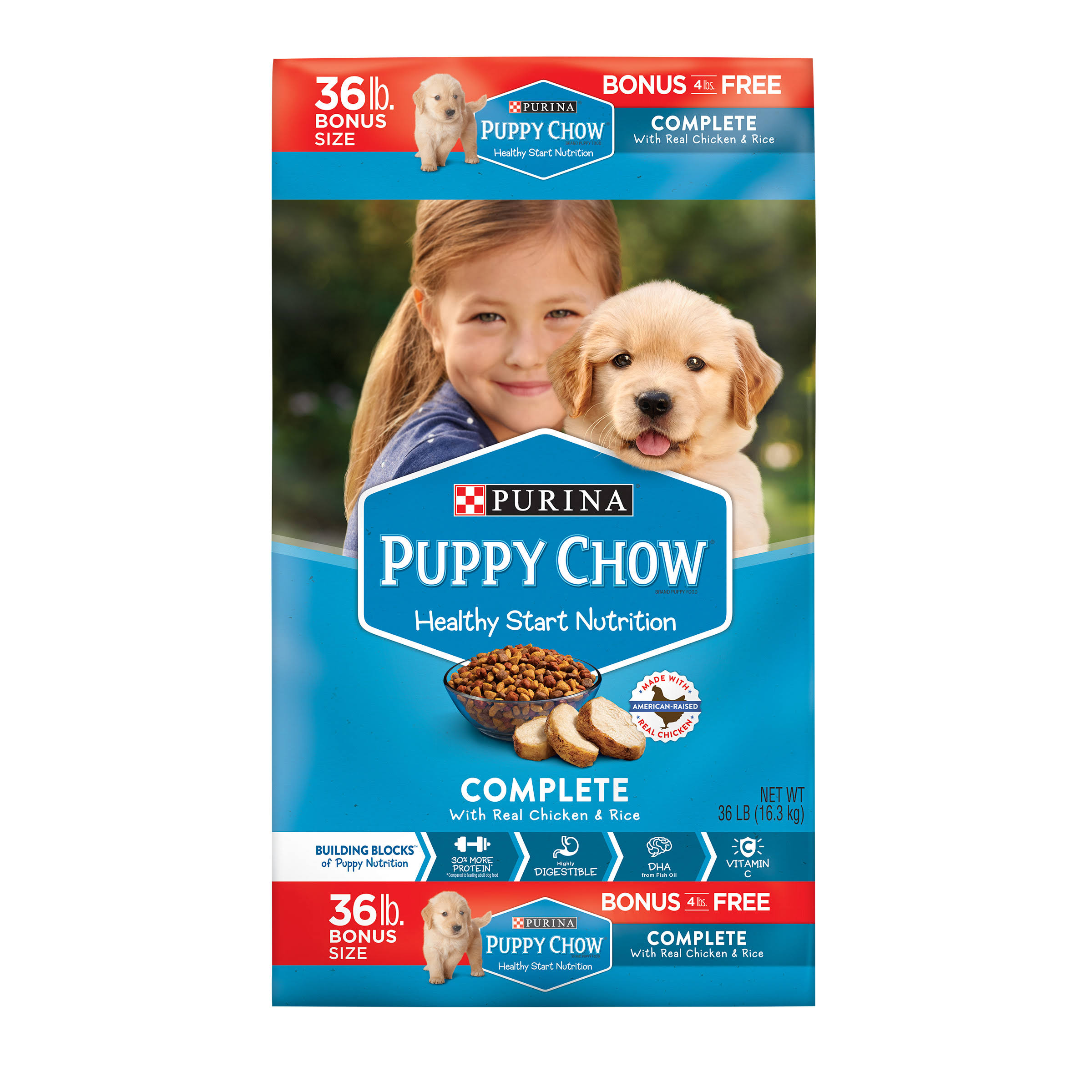 Purina Puppy Chow Complete Dog Food Bonus Size - 36lb