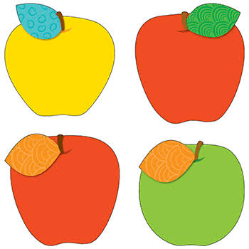 Carson Dellosa Apples Cut-Outs