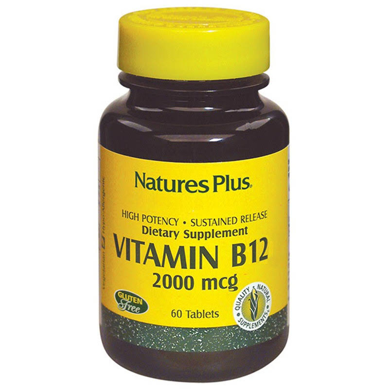 Nature's Plus Vitamin B-12 - 2000 mcg, 60 tablets