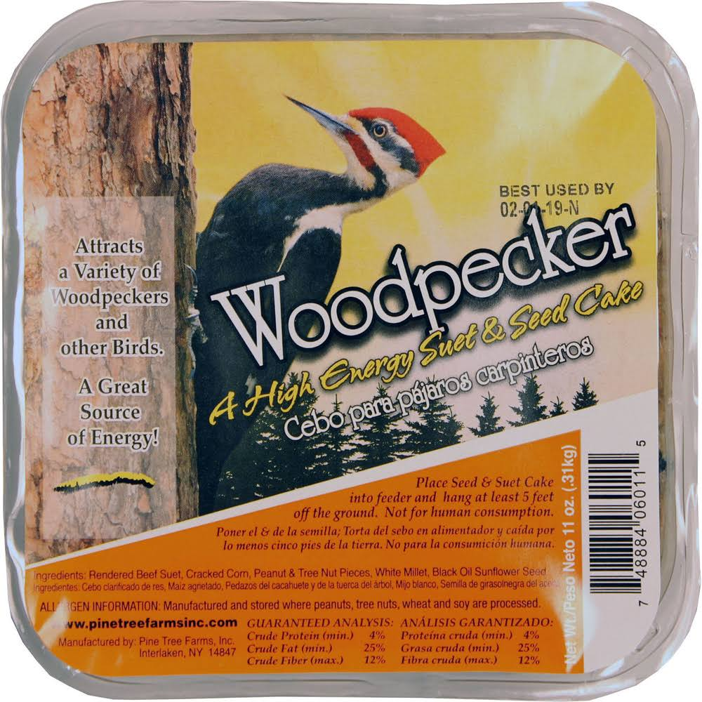 Pine Tree Farms PTF6011 Woodpecker Hi Energy Suet