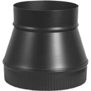 "Imperial Manufacturing BM0061 Flue Pipe Increaser - Black, 24 Gauge, 6"" x 7"""