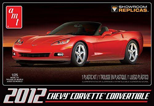 AMT Red Car Model Kit - 2012 Chevy Corvette Convertible, 1:25 Scale