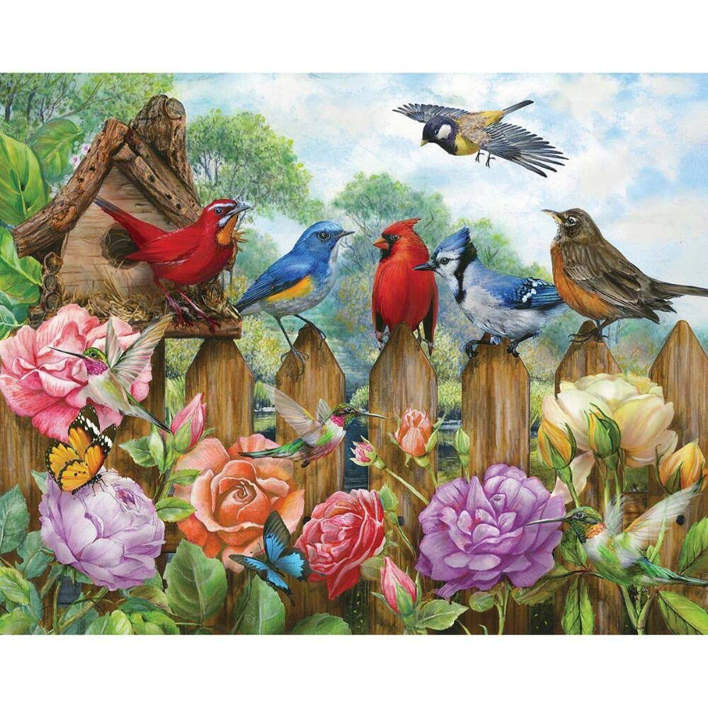 Morning Serenade Birds Cardinals Robins Springbok Jigsaw Puzzle - 500pcs