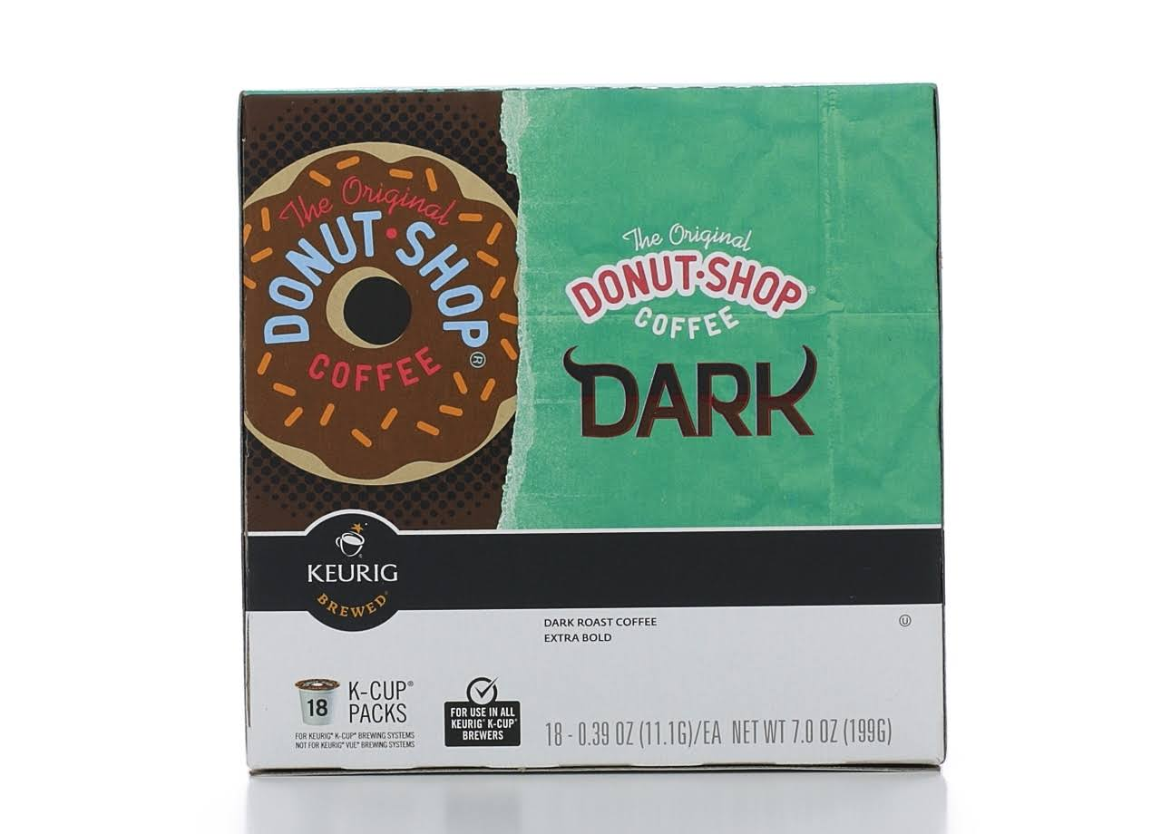 Keurig Hot The Original Donut Shop Coffee - Dark Roast, 0.39oz, 18ct