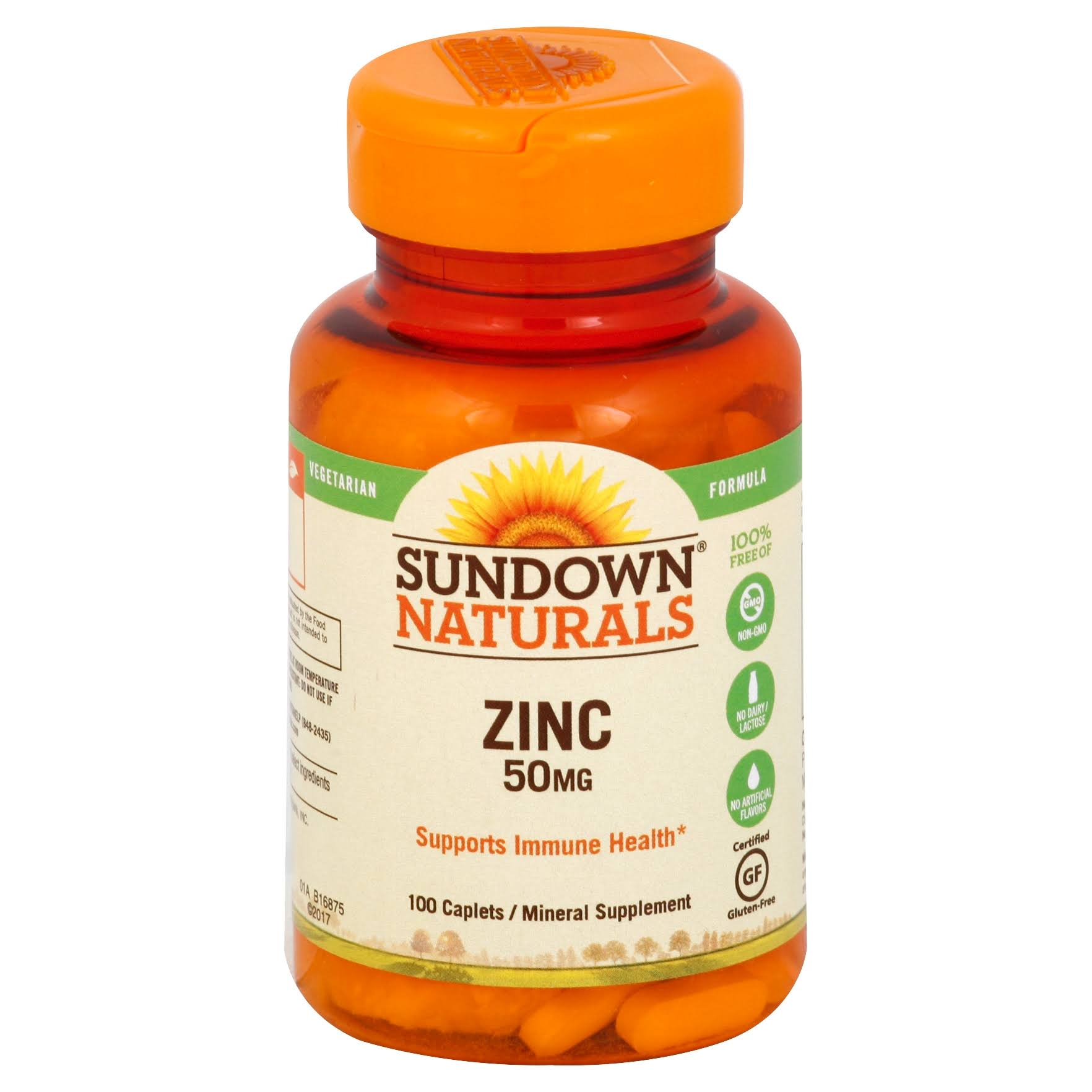Sundown Naturals High Potency Zinc - 50 mg, 100 tablets