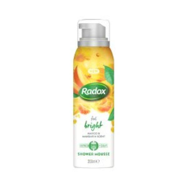 Radox Feel Bright Shower Mousse - Mango & Mandarin, 200ml