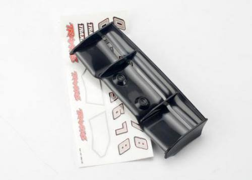 Traxxas 7122 Wing 1/16 E-Revo Black / Decal Sheet
