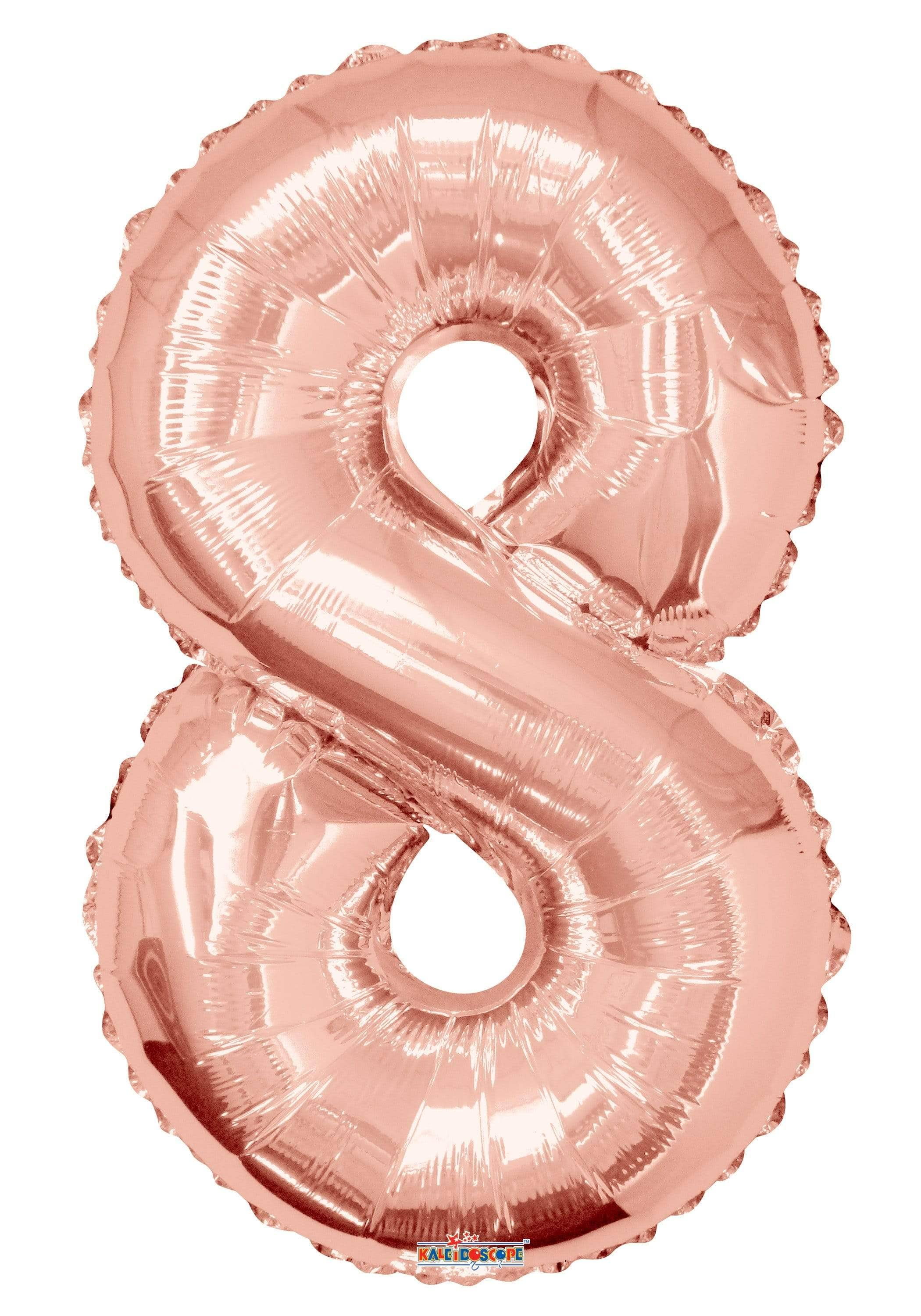 "34"" Number Balloon - 8 - Rose Gold"