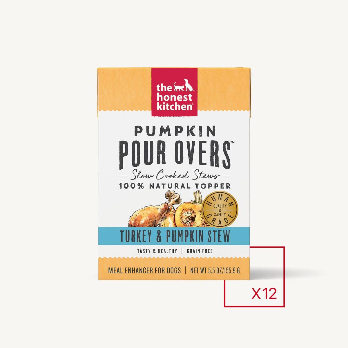 Honest Kitchen Pumpkin Pour Overs Turkey & Pumpkin 5.5 oz
