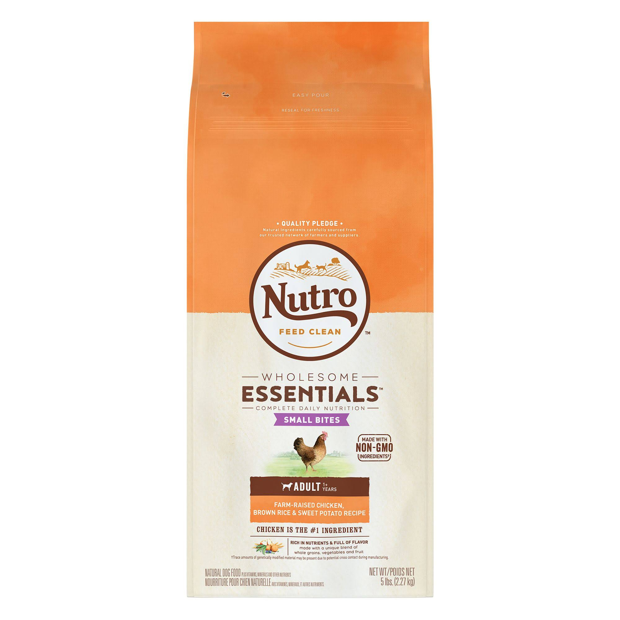 Nutro Wholesome Essentials Adult Small Bites Dry Dog Food - Chicken Rice, 5lbs