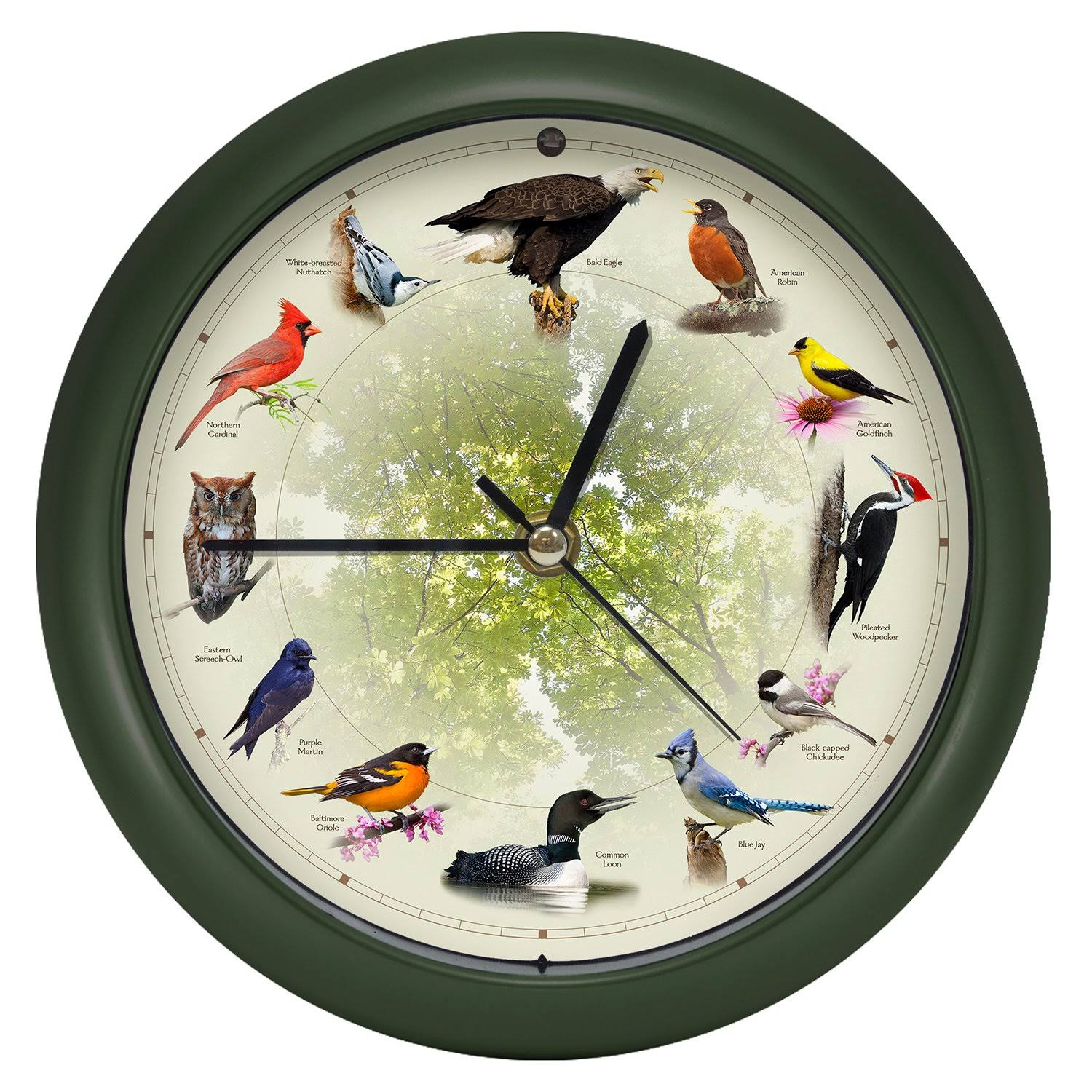 Mark Feldstein Limited Edition 20th Anniversary Singing Bird Clock, 8 inch