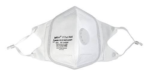 Softseal Respirator V-Fold Mask with Valve, X-Large, 3-Pack