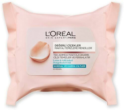 L'Oreal Paris Fine Flowers Cleansing Wipes - 25pcs