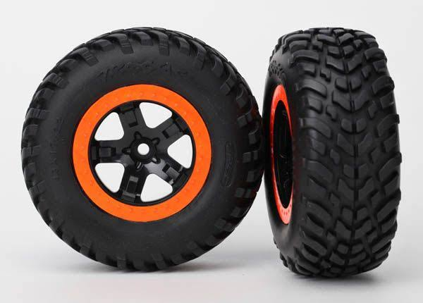 Traxxas 5863R Tire/Wheel Assembled Glued S1 Compound SCT Black
