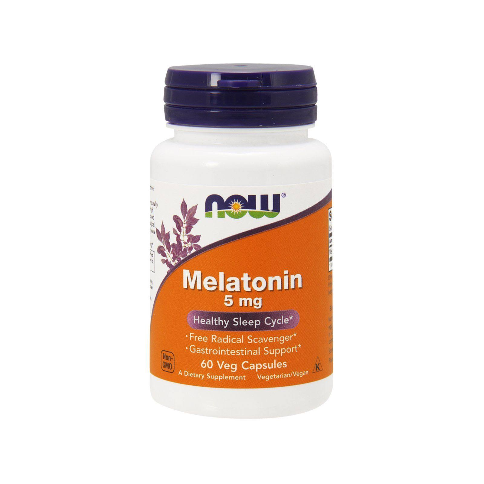 Now Foods Melatonin Supplement - 60 Capsules
