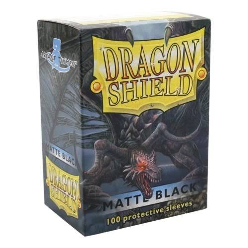 Dragon Shields Matte Card Sleeves - 100ct, Black