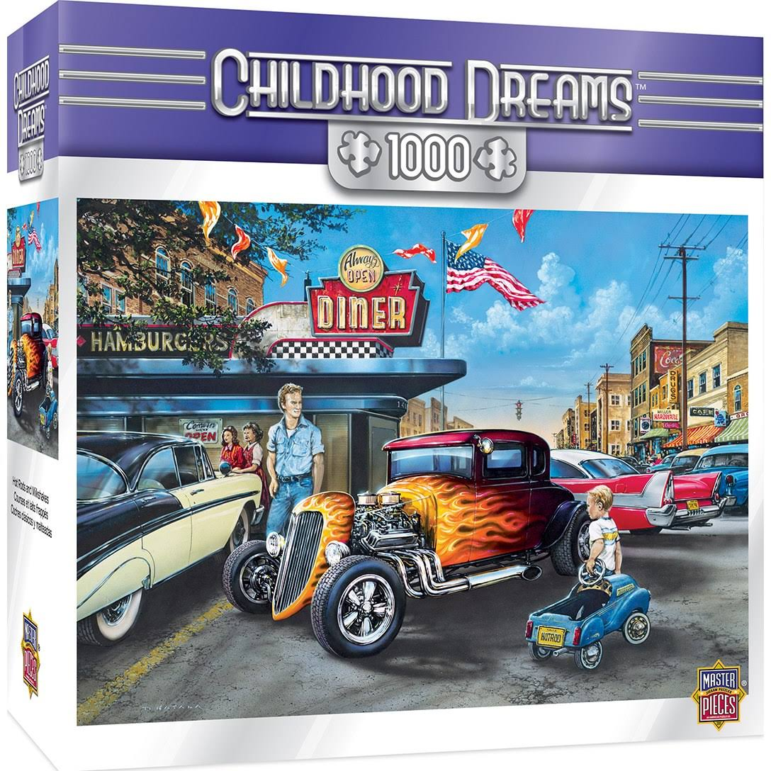 Masterpieces Childhood Dreams - Hot Rods and Milkshakes 1000pc Puzzle