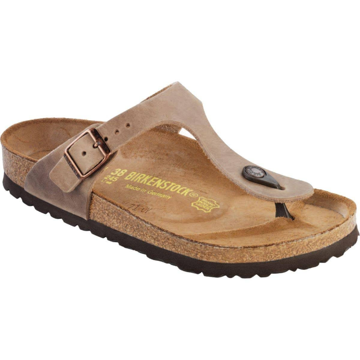 Birkenstock Women's Gizeh Sandals - Tobacco Oiled Leather, Size 6 US
