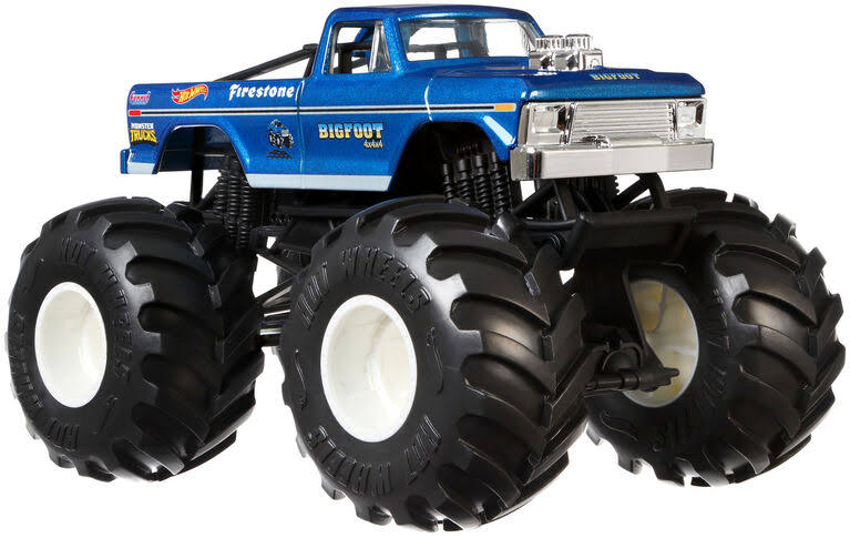 Hot Wheels Monster Trucks Bigfoot Truck Vehicle Toy - 1/24 scale
