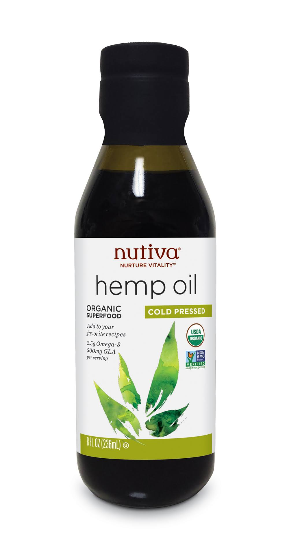 Nutiva Organic Superfood Hemp Oil - 8 fl oz bottle