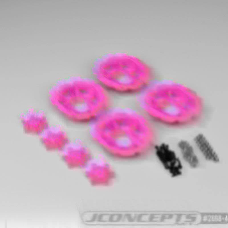 J Concepts Tracker Wheel Discs for Dragon Wheels Pink (4pcs) JCO26684