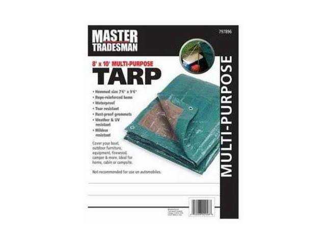 Master Tradesman Multi-Purpose Tarp - Hunter Green, Brown