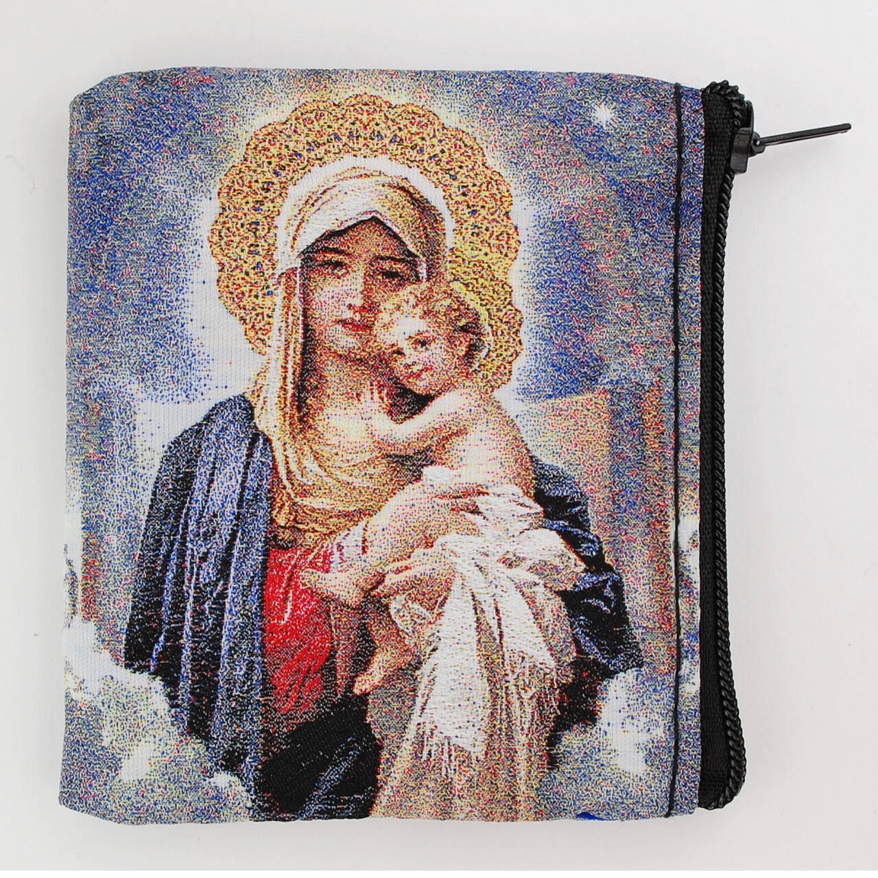 Mother & Child Tapestry Rosary Case RP3