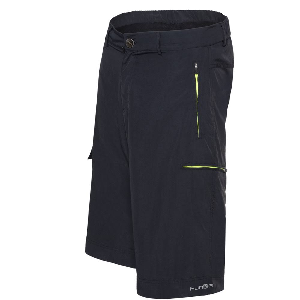 Funkier Adventure MTB Baggy Shorts Integrated Liner - Black