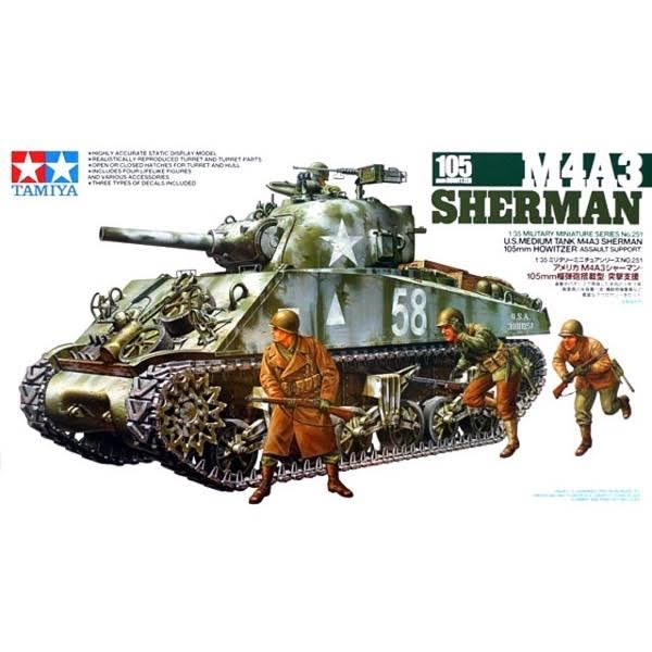 Tamiya Sherman Howitzer Model Kit - Scale 1:35
