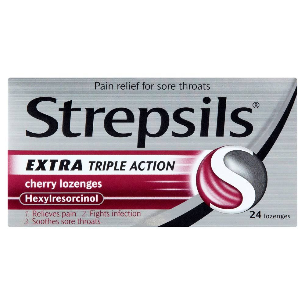Strepsils Extra Triple Action Cherry Lozenges - 24ct