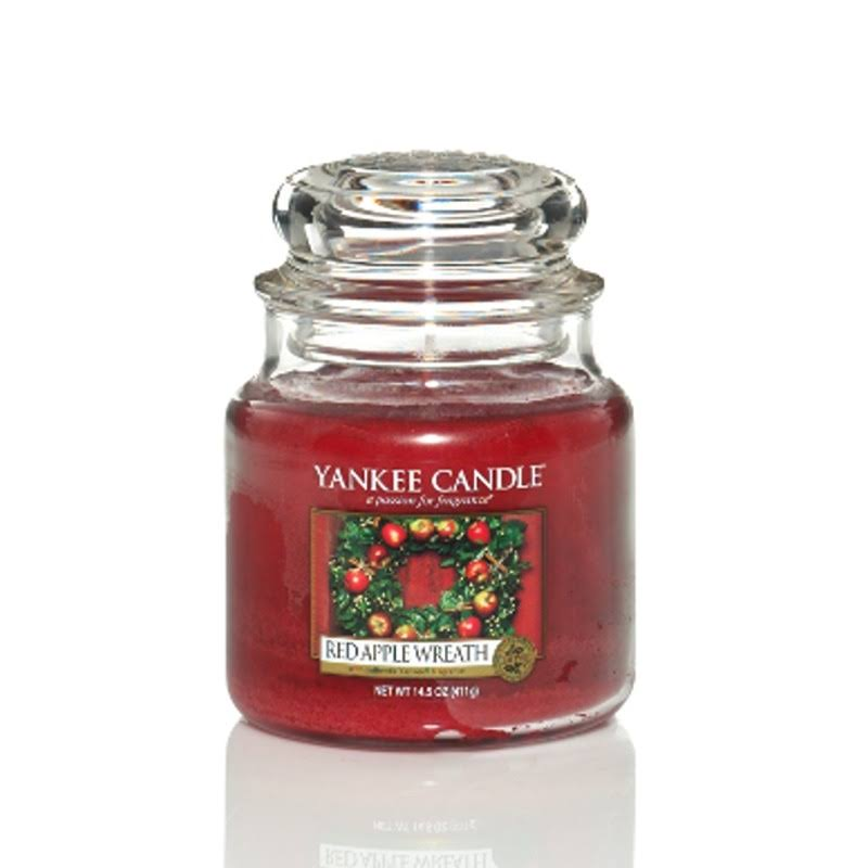 Yankee Candle Medium Jar Candle - Red Apple Wreath, 411g