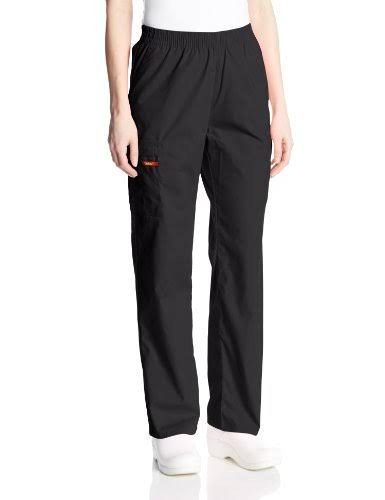 Dickies Womens EDS Signature Scrubs Missy Fit Pull-on Cargo Pant - Black, Medium