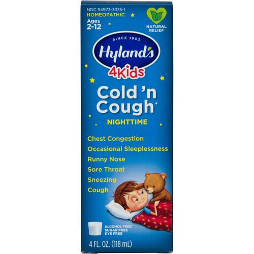 Hylands 4 Kids Cold 'n Cough, Nighttime - 4 fl oz