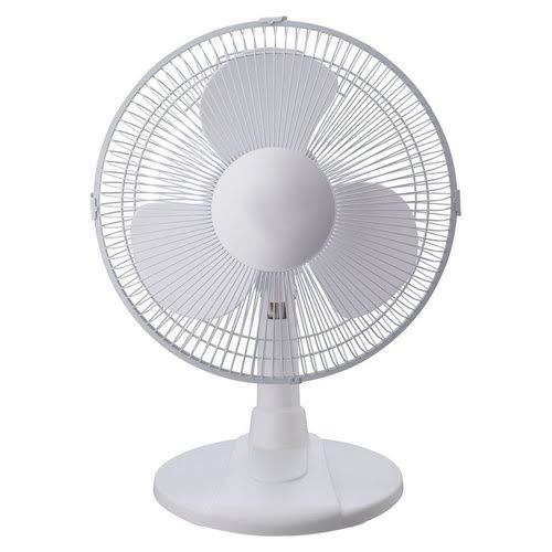 Pelonis Oscillating Table Fan - White