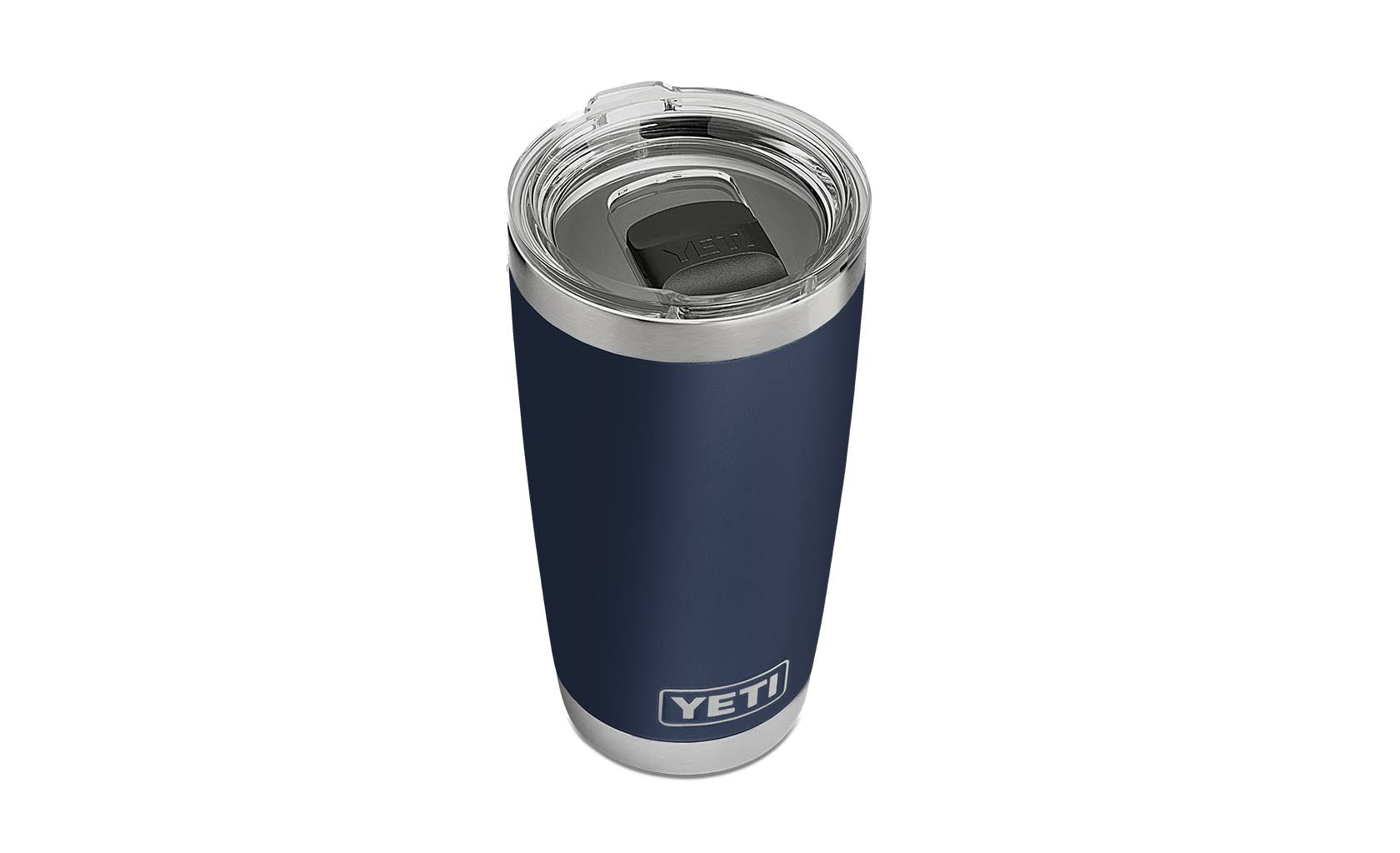 Yeti Rambler Vacuum Insulated Tumbler - with MagSlider Lid, Navy, 20oz Stainless Steel