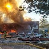 Explosion destroys Virginia strip mall, injures several people